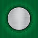 Abstract green background with  metal plate Stock Photos