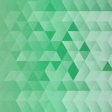 Abstract green background in polygonal style. Vector illustration Stock Photo