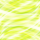 Abstract green background with smooth lines. Stock Photos