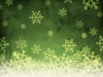 Abstract green background with snowfall Royalty Free Stock Photography