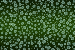 Abstract green background with snowflakes. Illustration, pattern Stock Photography