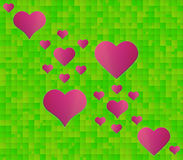 Abstract green background with squares and some of the squares a Royalty Free Stock Images