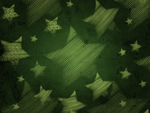 Abstract green background with stars Royalty Free Stock Photography