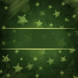 Abstract green background with stars and text space Stock Image