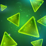 Abstract green background with triangle shapes Royalty Free Stock Photography