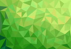 Abstract green background with triangles. Green abstract geometrical spring background with triangles Stock Photos