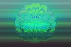 Abstract green background with a water flower.  Stock Photo