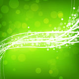Abstract green background with wave Stock Image