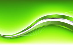 Abstract green background with wave Stock Photos