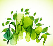 Abstract green background with wave and drops Royalty Free Stock Photo