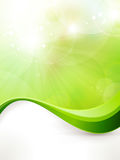 Abstract green background with wave pattern vector illustration