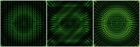 Abstract green backgrounds. Set of three backgrounds with abstract  elements in green Royalty Free Stock Photography