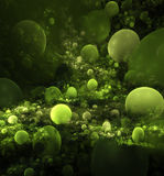 Abstract green balls background Stock Photo