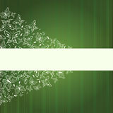 Abstract green banner with butterflies Royalty Free Stock Photos