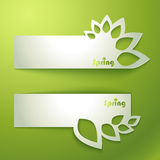 Abstract green banner Royalty Free Stock Photos