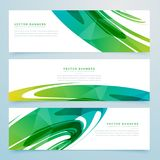 Abstract green banners collection. Vector Stock Photography