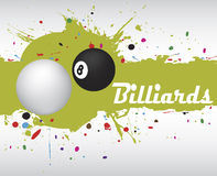 Abstract green billiard splash.Billiard background Royalty Free Stock Photo