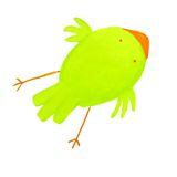 Abstract green bird Stock Images