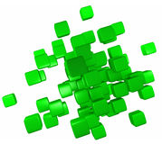 Abstract Green Blocks Royalty Free Stock Photography