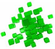 Abstract Green Blocks Royalty Free Stock Photography