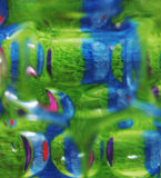Abstract green/blue. Abstract colours and shapes through glass stock photography