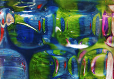Abstract green/blue. Abstract colours and shapes through glass royalty free stock image