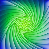 Abstract green and blue background. Of curved overlapping layers Stock Image