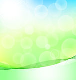 Abstract Green And Blue Background With Bokeh Stock Image