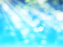 Abstract green and blue background with bokeh and sun rays for s. Pring season concept Royalty Free Stock Photography