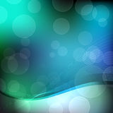 Abstract green, blue and black background. Abstract smooth green and blue background with copy space (black) above Royalty Free Stock Photography
