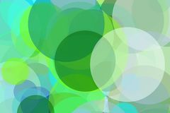 Abstract green and blue circles illustration background. Abstract minimalist green and blue illustration with circles useful as a background vector illustration