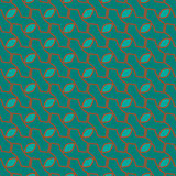 Abstract green blue with elegant brown line pattern background Royalty Free Stock Photos