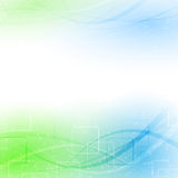Abstract green blue particle wind. Vector illustration Royalty Free Stock Photo