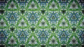 Abstract green blue pattern wallpaper Stock Photo
