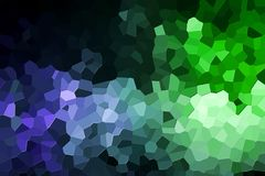 Abstract geometric polygons and triangles. Abstract green and blue polygons on black isolated background. Usefull for mock up, business cards and web backdrop Stock Photo