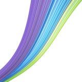 Green blue purple organic wave pattern Stock Photos