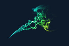 Abstract green and blue smoke Stock Photo