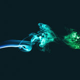 Abstract green and blue smoke Royalty Free Stock Photography