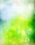Abstract green and blue spring background - vintage photo Stock Images