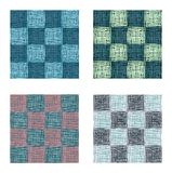 Abstract geometrical vector squares seamless pattern set Stock Images