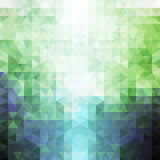 Abstract green and blue triangle pattern Royalty Free Stock Image