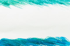 Abstract green and blue watercolor texture. For background with copyspace Royalty Free Stock Image