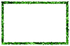 Abstract Green Blurred Frame On White Background Stock Photos