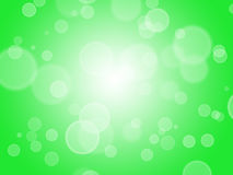 Abstract green bokeh background stock illustration