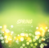 Abstract green bokeh background Stock Image