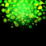 Abstract green bokeh effect background Stock Image