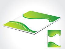 Abstract green book cover Stock Photo