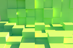 Abstract green box floor Royalty Free Stock Image