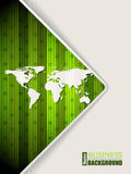 Abstract green brochure with world map Royalty Free Stock Photos