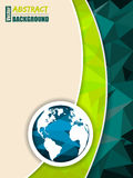 Abstract green brochure with world map Royalty Free Stock Image